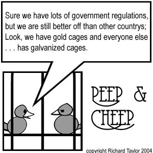 Peep and Cheep Cartoons, Intellectual Political, Editorial